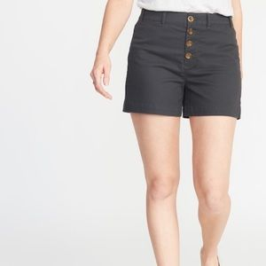 Old Navy Grey Button Up Shorts NWT